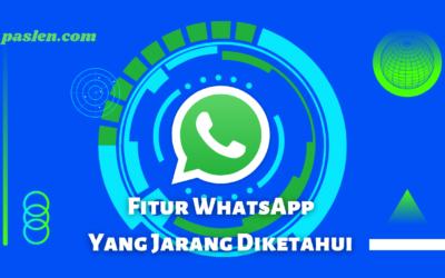Fitur di Aplikasi WhatsApp yang Jarang Pengguna Tahu