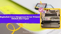 Beginilah Cara Mengatasi Error Printer Mudah dan Cepat
